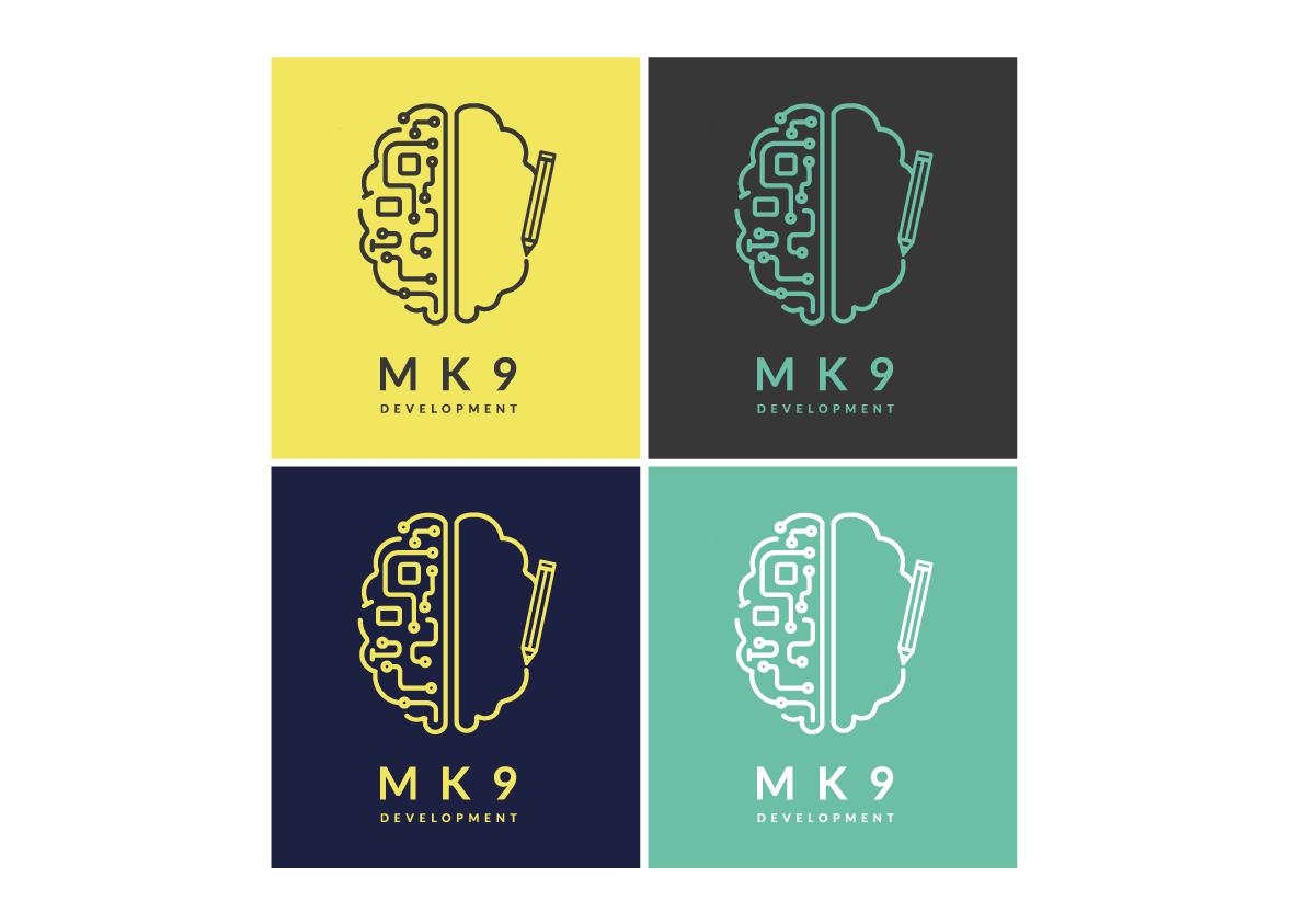 Left and right side brain logo idea