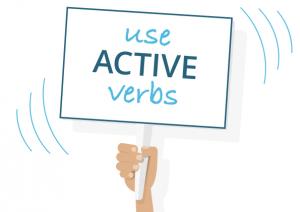 Use active verbs
