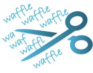 Cut the waffle