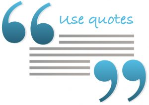 Use quotes