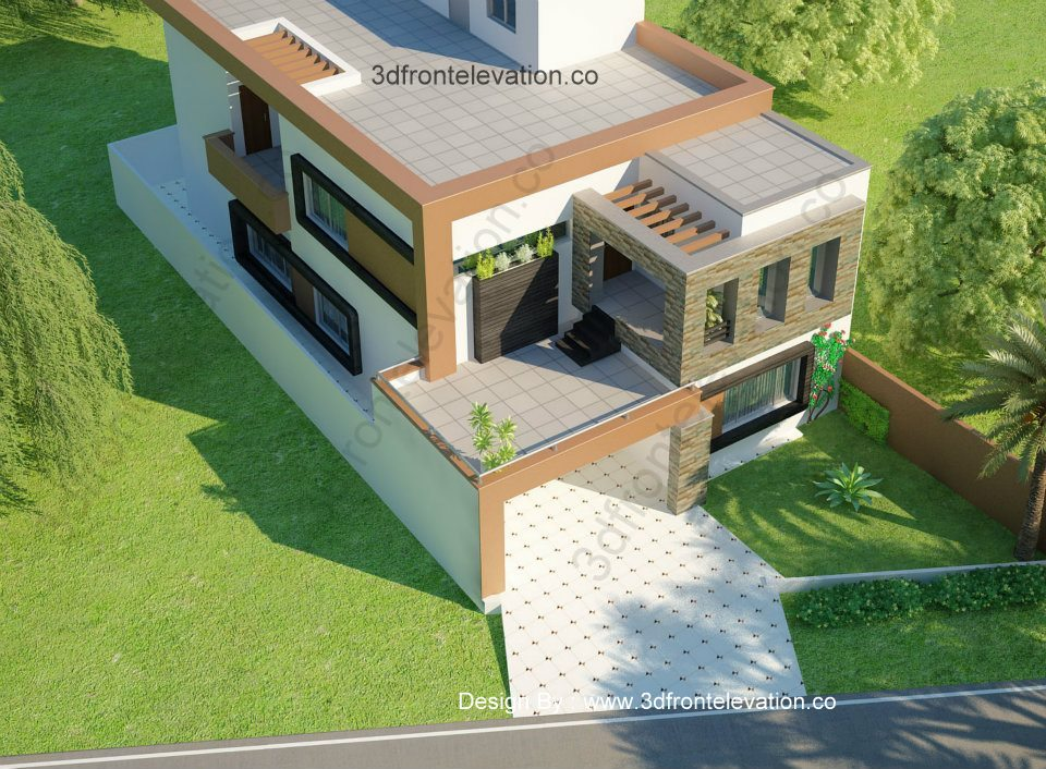 10 marla house 3d elevation