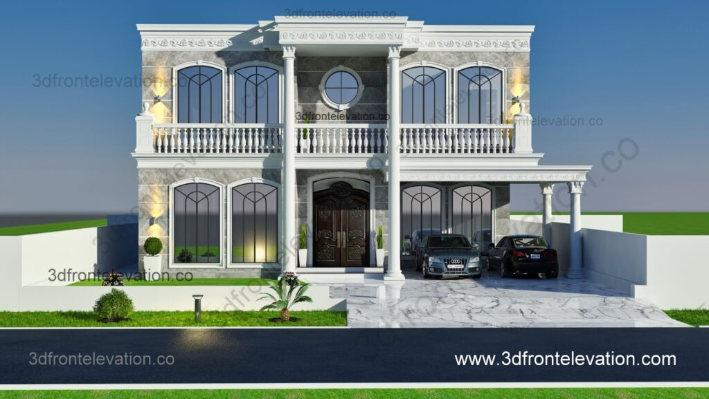 Classical 3D Front Elevation