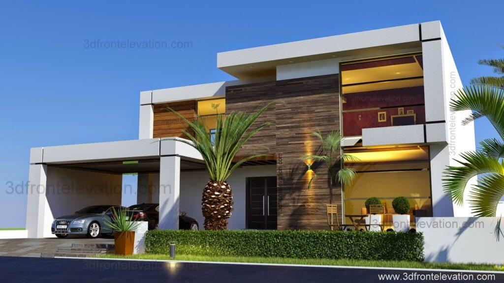 Contemporary home facade