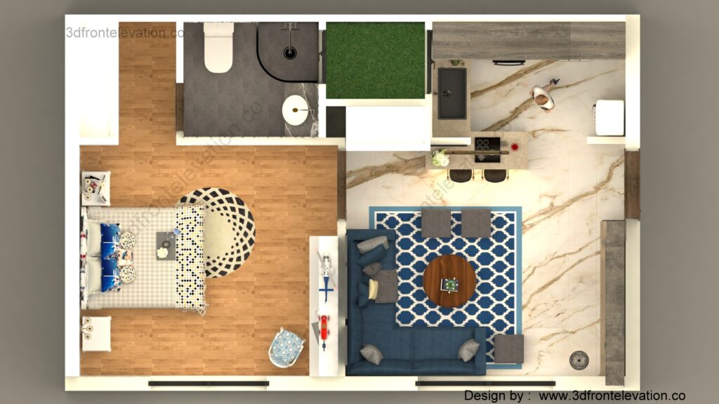 Hire Freelancer for 3d floor plan Design