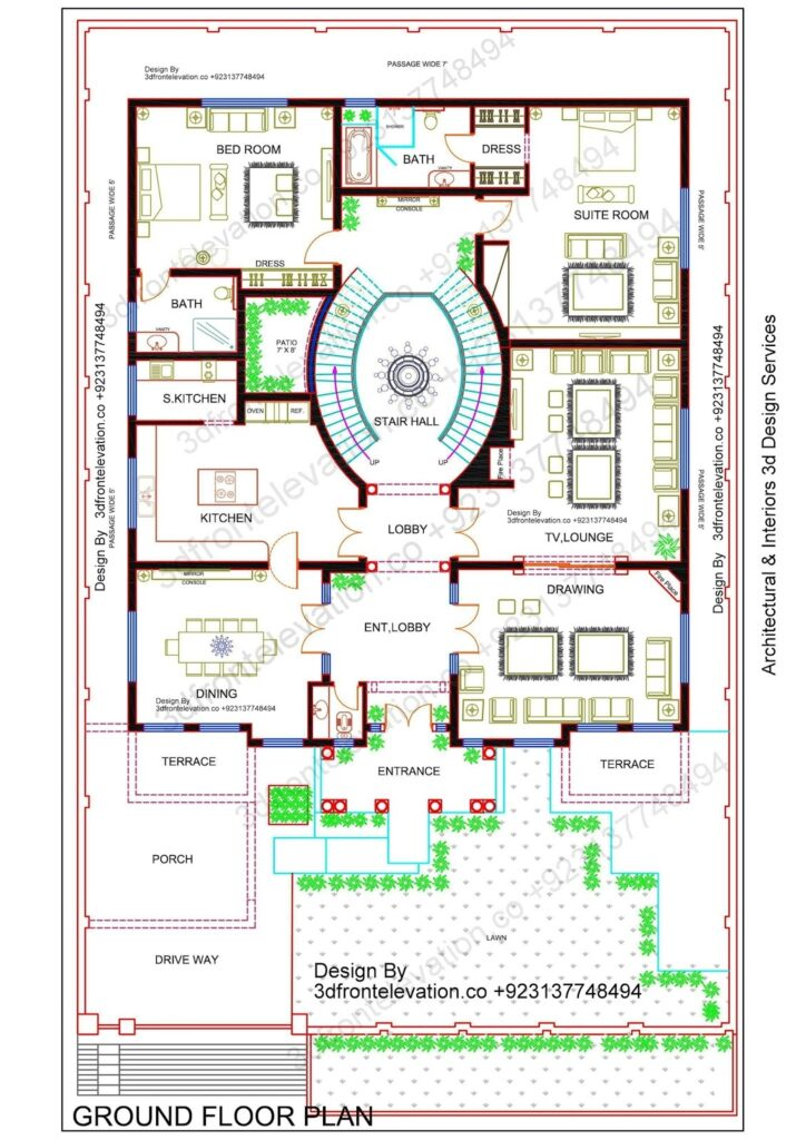Free Best House Plan with Dimensions