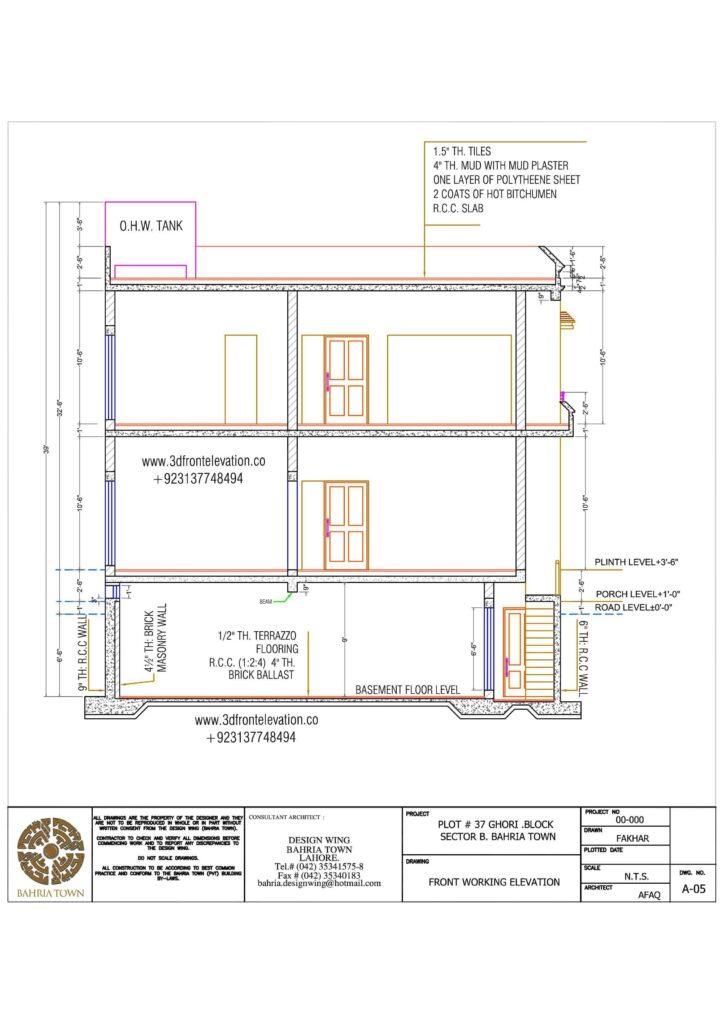 1 kanal House Plan for Bahria Town
