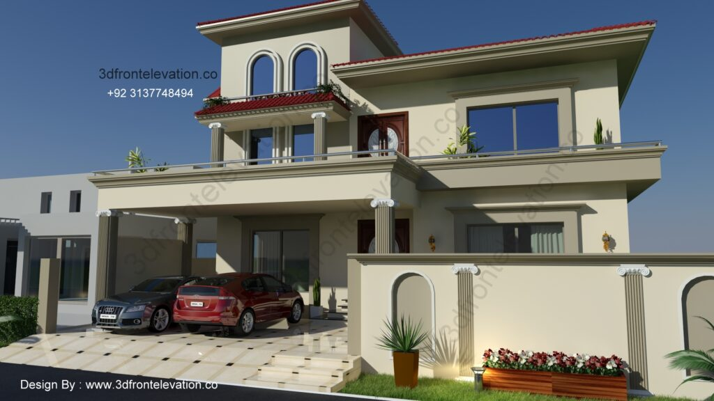 House Plan with Spanish Exterior Design