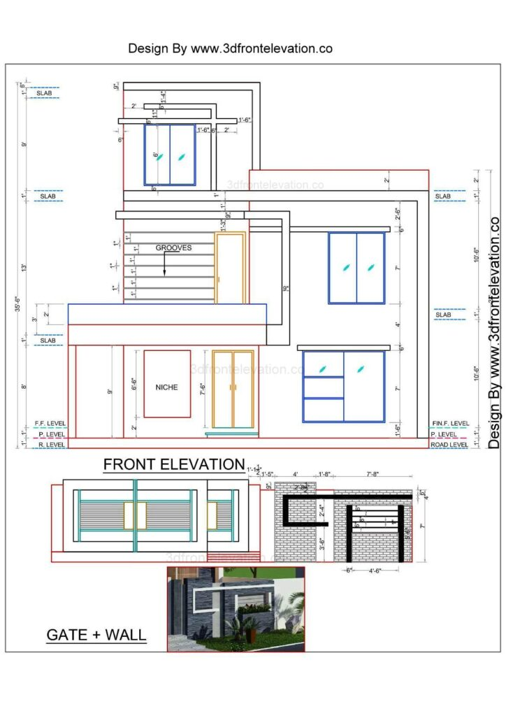 house design with plan