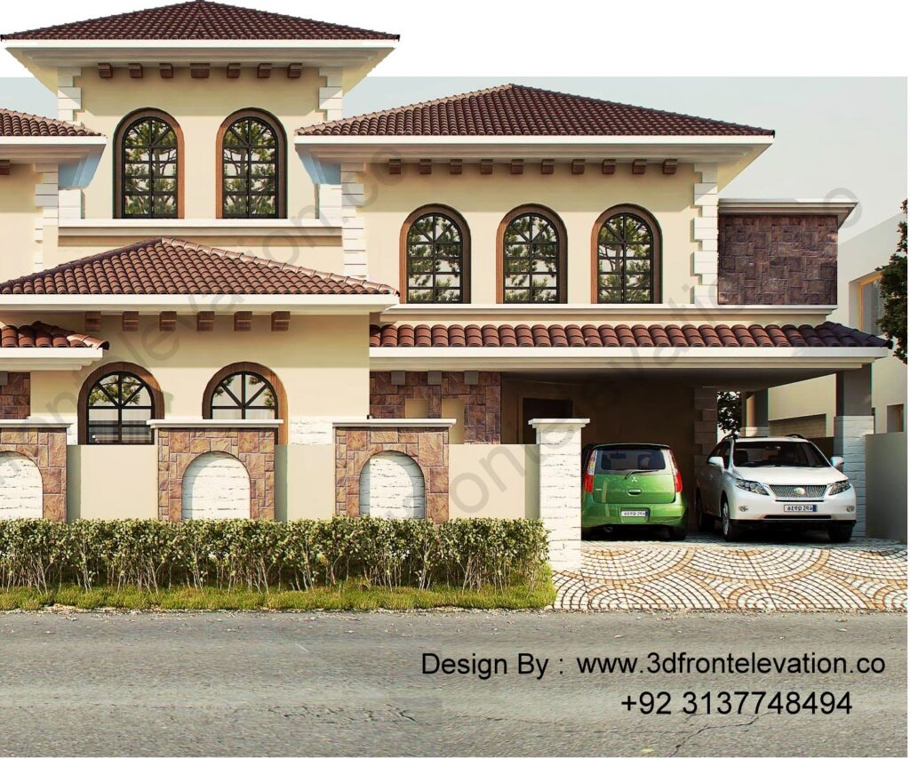 Design a Mediterranean style Bungalow in islamabad