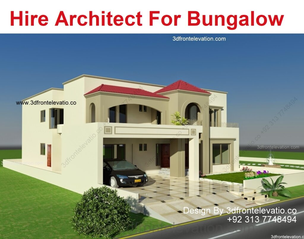 Hire Best Architect for Bungalow Plan and Design