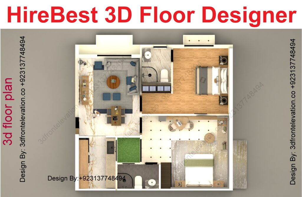 3D Floor Plan rendering in Dubai UAE