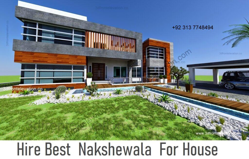 2 Kanal House Plan & 3D Exterior