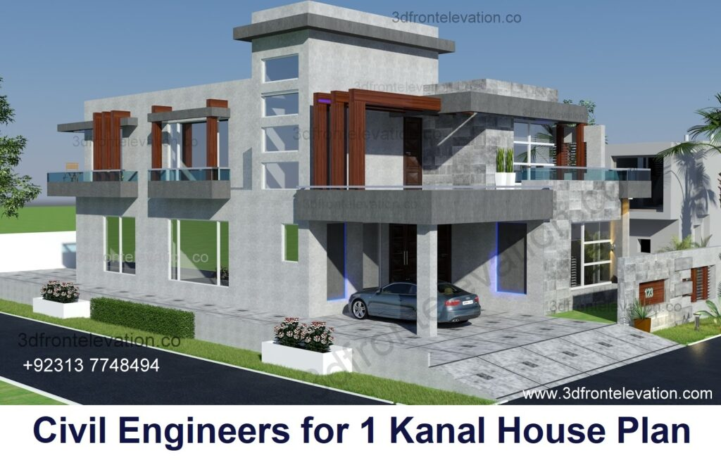 Civil Engineers PK for 1 Kanal House Plan