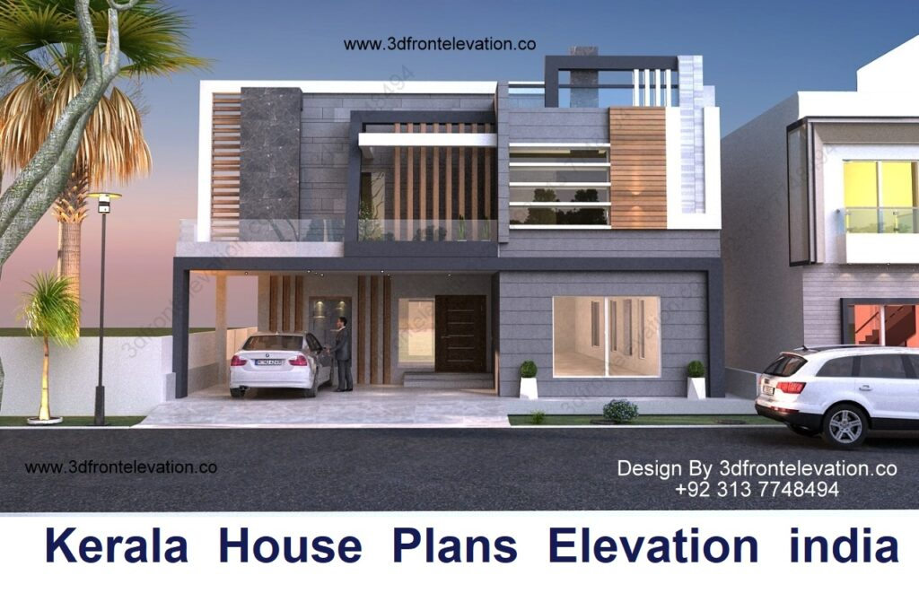 House Plan with Elevation Design