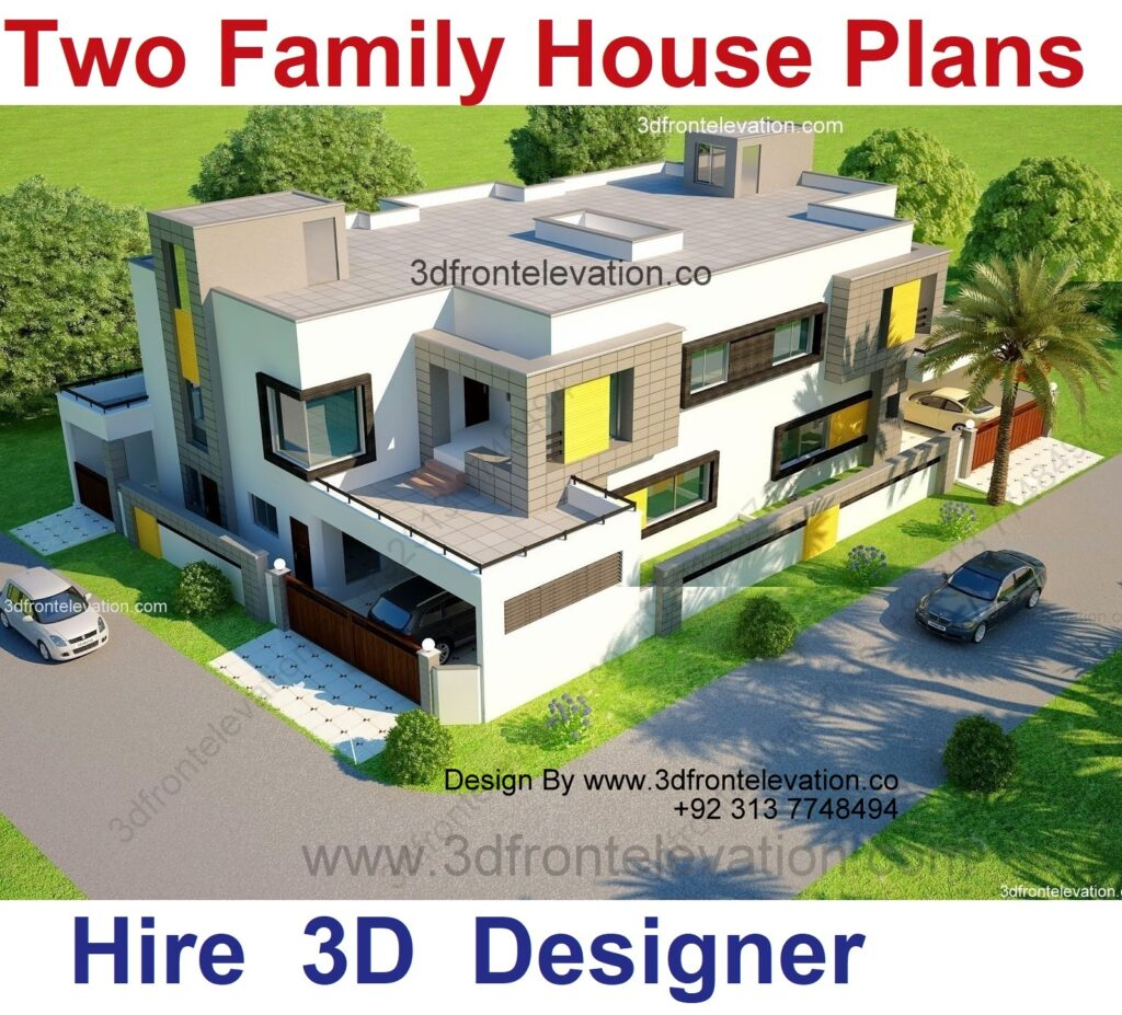 two family house plans