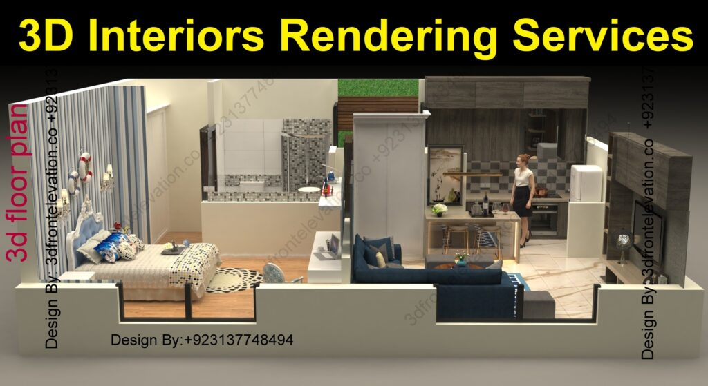 3D interiors Rendering Services