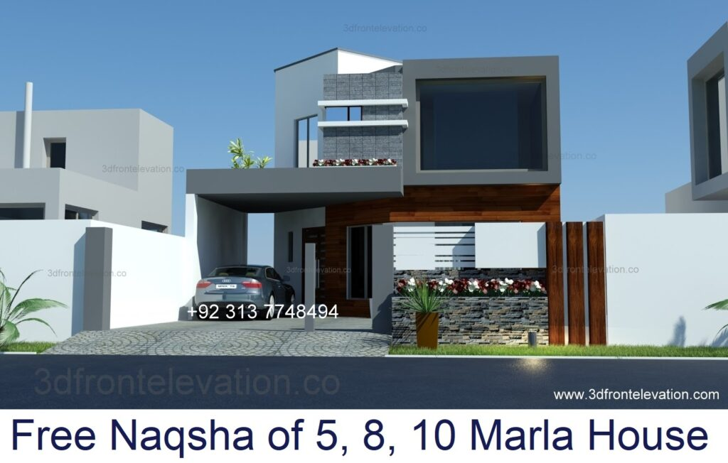 Get Free Naqsha of 5, 8 Marla, 10 Marla House in Pakistan