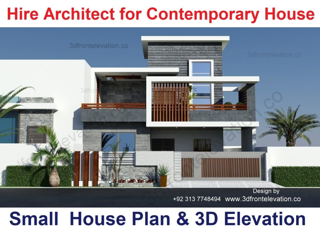 Small House Plan with L Shaped Contemporary House