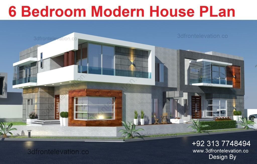 Hire 3D Artist for 6 bedroom villa floor plan
