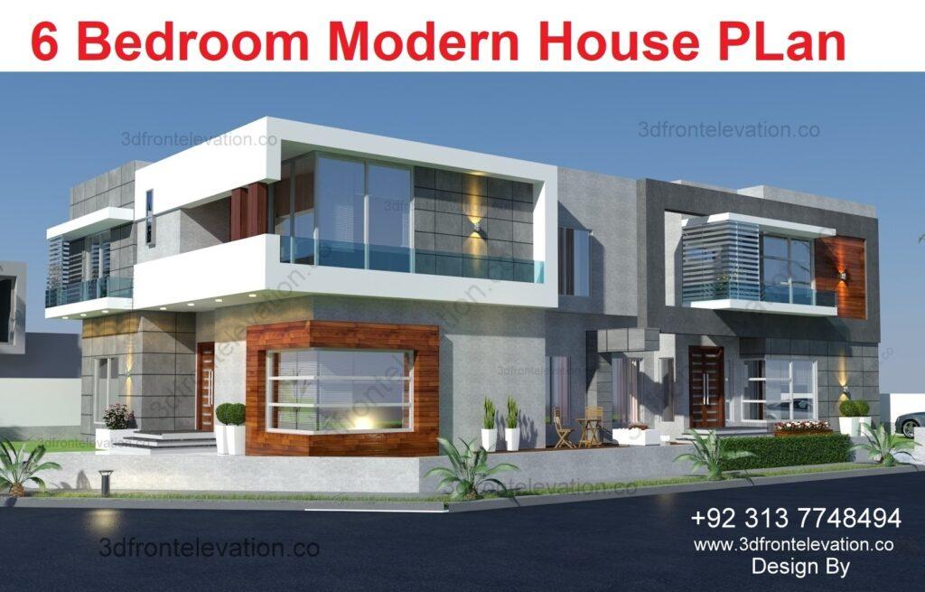 Hire 3D Artist for 6 bedroom villa floor plan