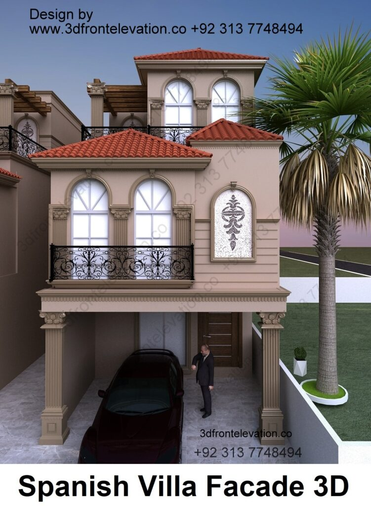 3 Storey Duplex Spanish Villa Design