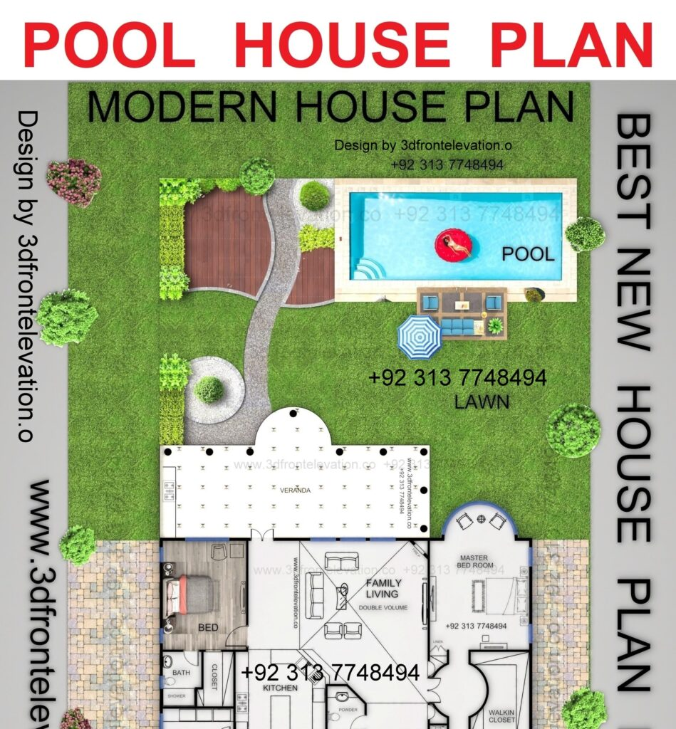 Hire Architect for Best House Plan with Pool