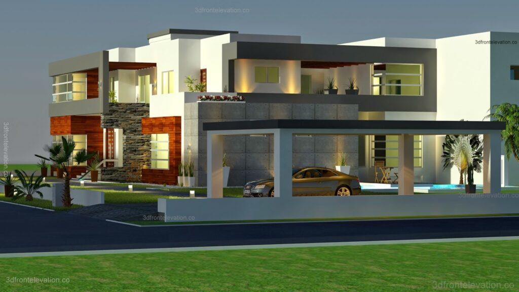 500 Meter Modern House Plan