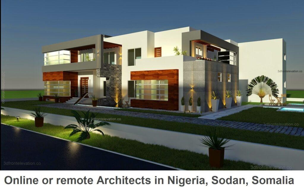 Online or remote architects in nigeria, sodan, somalia,