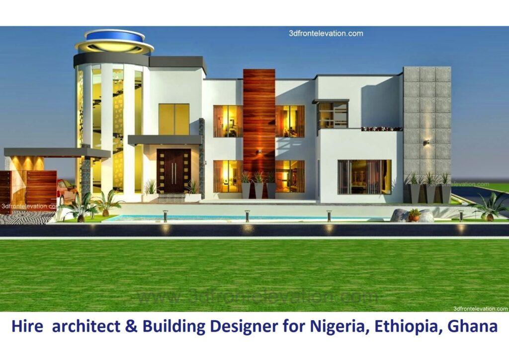 Hire Best Modern House architect & Building Designer for Nigeria,, Egypt, Ethiopia, Ghana,