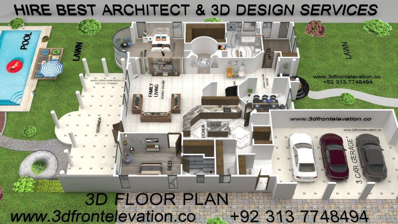 Hire Best Designer for 3D Floor Plan firm in usa, uk, uae, canada, pakistan, india