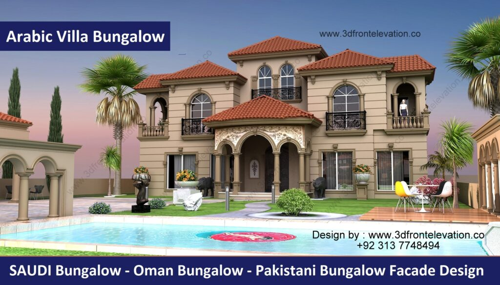 Mediterranean Bungalow Plan Design