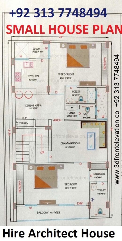 8 Marla House Plan