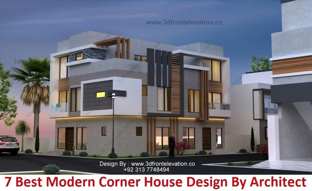 7 Best modern corner house design By Architect