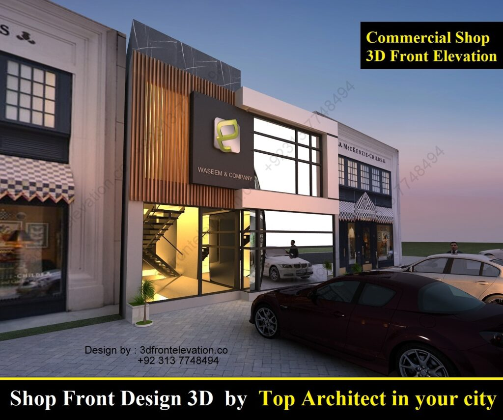 Shop Front Design 3D by Top Architect in your city
