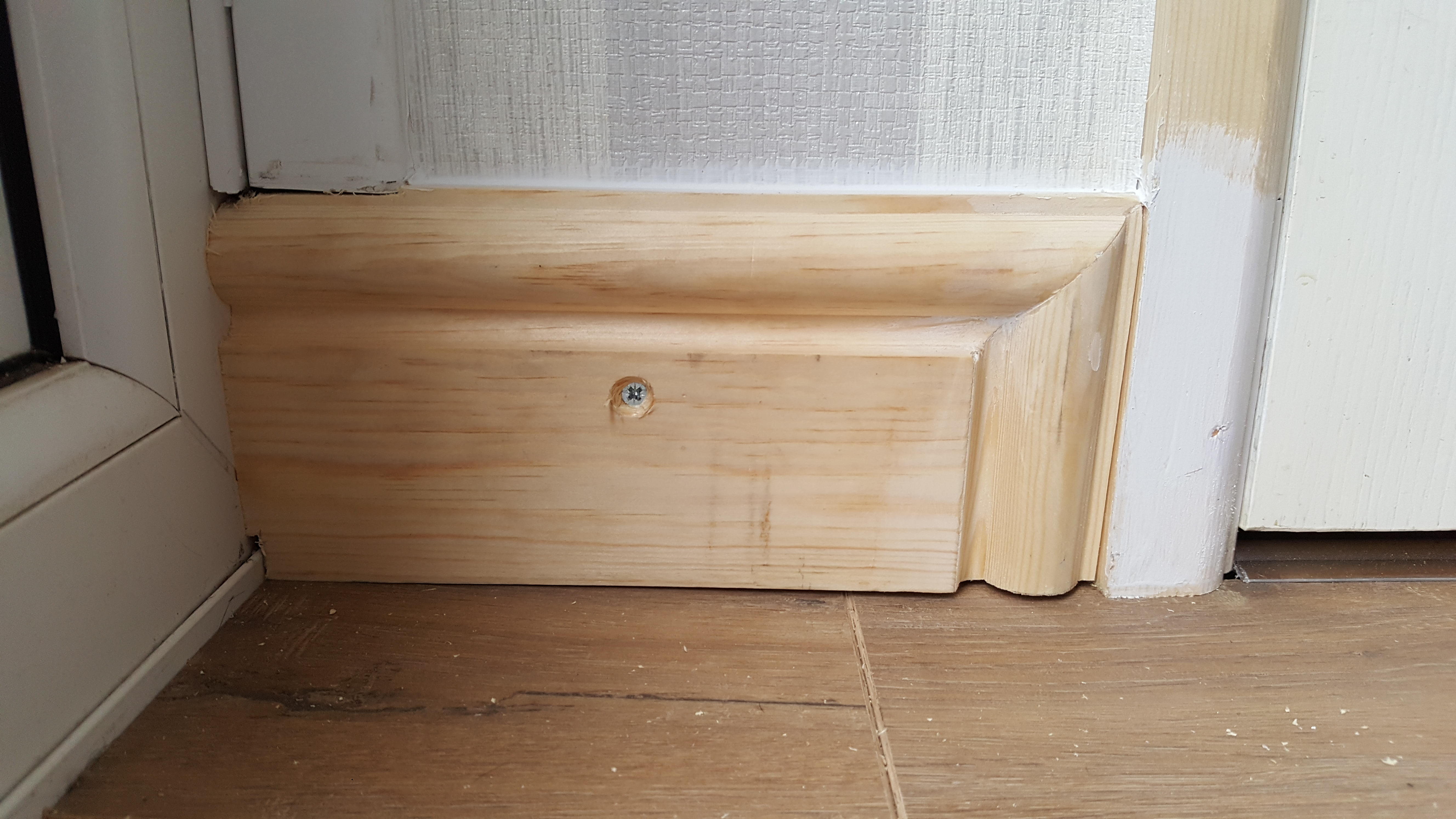 optional skirting end mitre