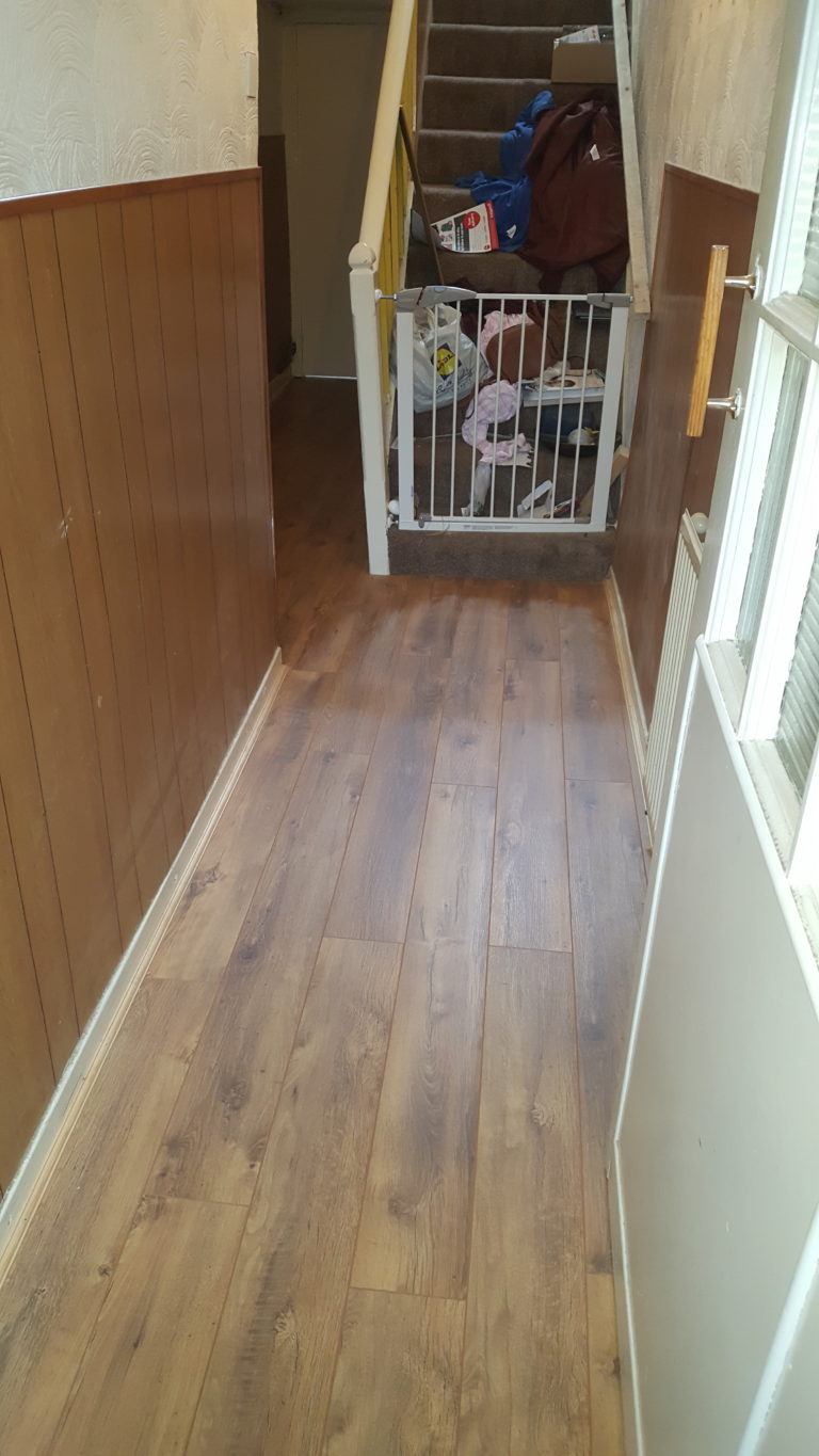 New laminate flooring over new joists and subfloor