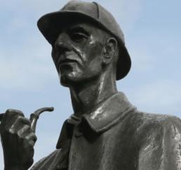 Talking Statue Estátua Sherlock Holmes
