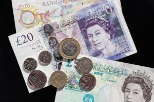 Dinheiro Inglês Libra Esterlina English Pounds