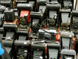 Máquinas Fotográficas antigas em Portobello Road