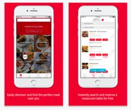 Aplicativo de resevas de restaurantes OpenTable