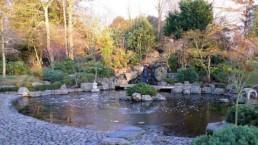 Jardim Japonês no Parque Holland Park em Londres