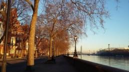 Inverno no Rio Tâmisa em Londres