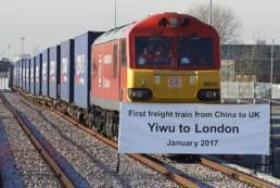 Trem da China para Londres
