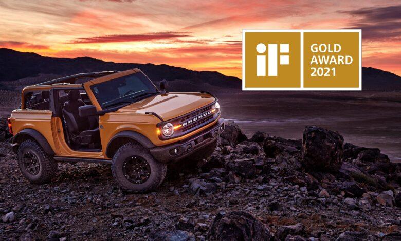 Bronco iF Design Gold Award 2021