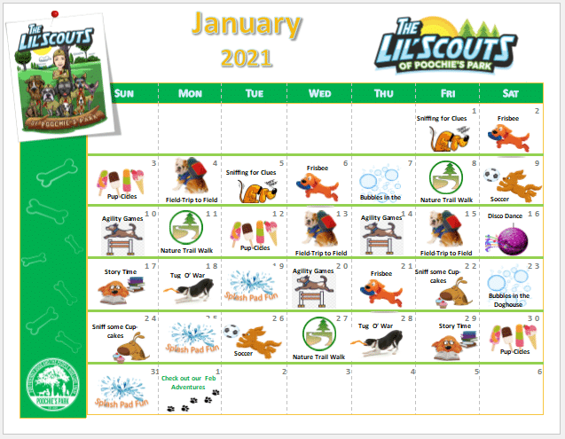 Lil Scouts January Activities