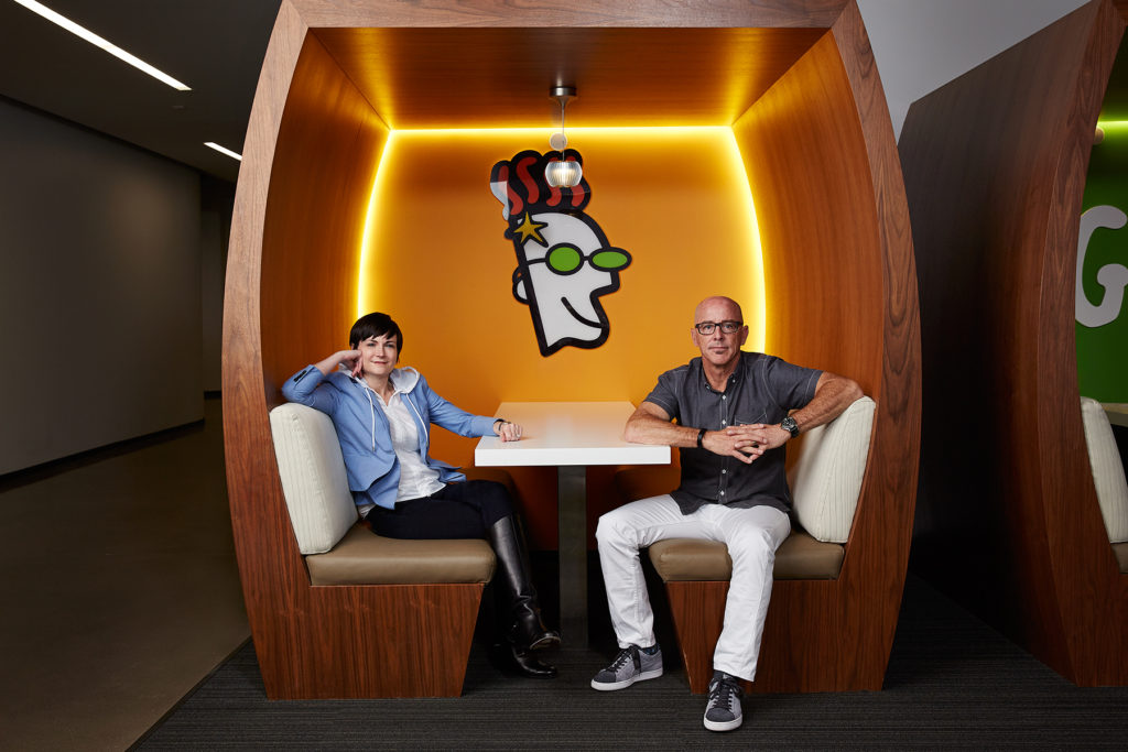 CEO Blake Irving and CTO Elissa Murphy from GoDaddy