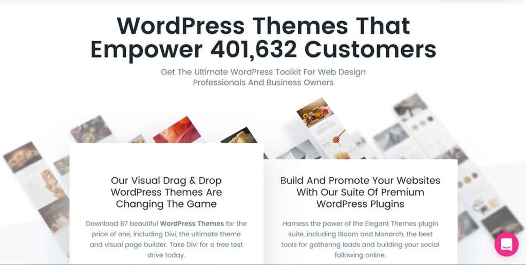 Elegant Themes has over 400,000 plus Customers