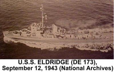 cacciatorpediniere USS Eldridge progetto arcobaleno