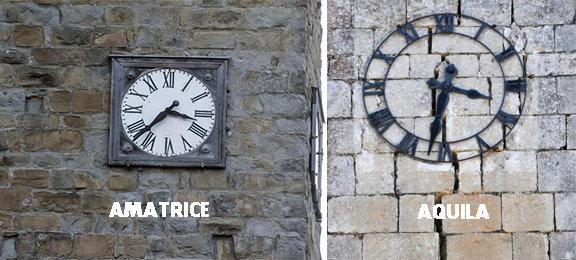 Terremoti in centro italia orologi_orologio di aquila e amatrice