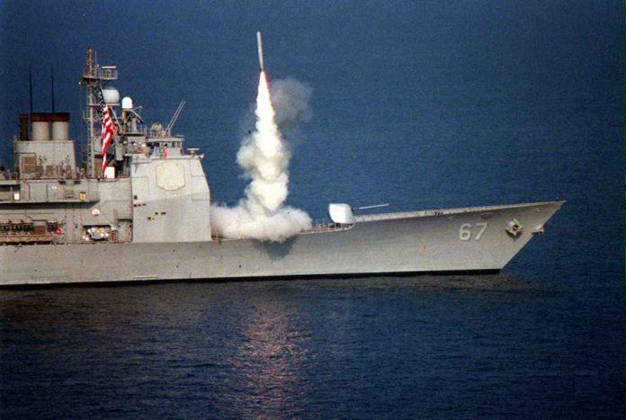 portaerei americana attacco missilistico